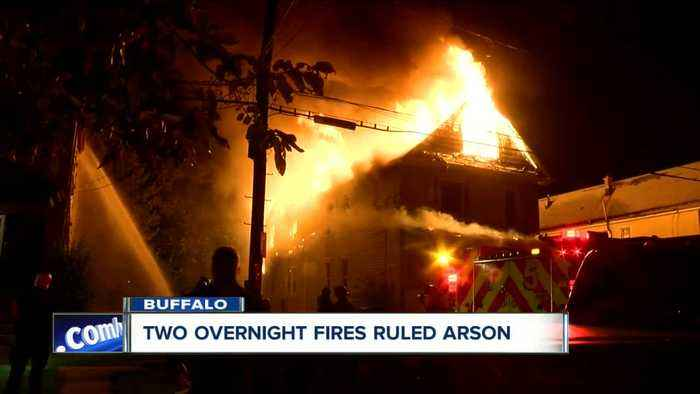 Two overnight fires ruled arson