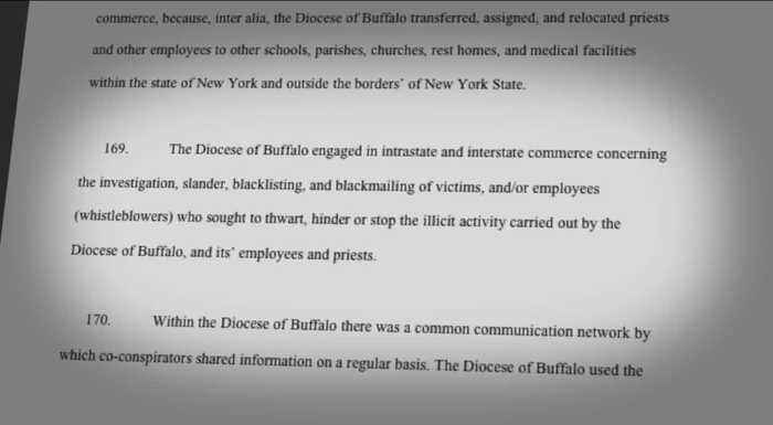 RICO lawsuit alleges 'racketeering enterprise' by the Diocese of Buffalo