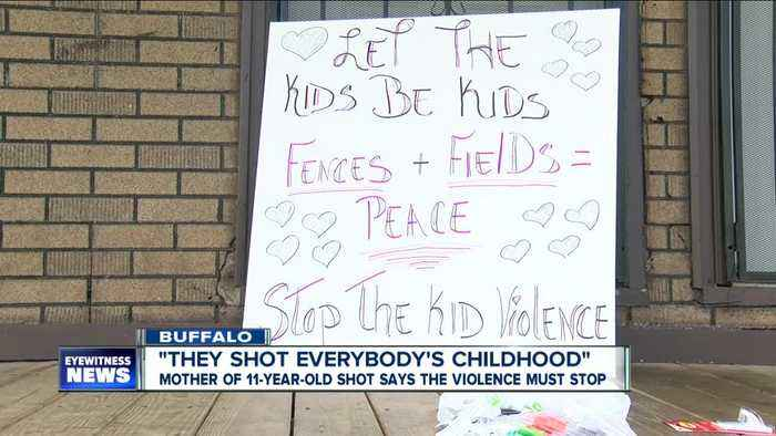 """""""They shot everybody's childhood."""" Mother of 11-year-old shot has a message for Buffalo"""