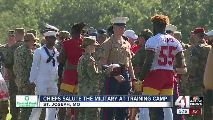 Chiefs salute the military at training camp