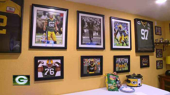 Superfan shows off Packers man cave