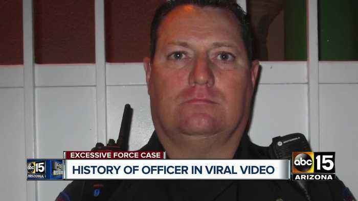 History of officer in viral video