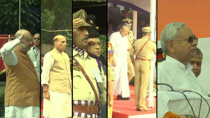 HM Shah, Defence Minister, Bihar & Kerala CMs celebrate Independence Day