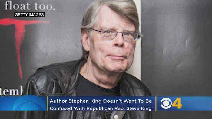Author Stephen King Doesn't Want To Be Confused With Republican Rep. Steve King