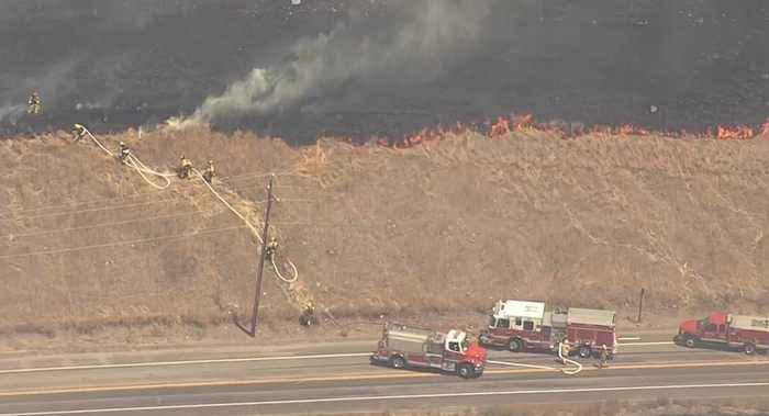 RAW: Chopper 5 Video Of Bayliss Fire Burning In South San Jose
