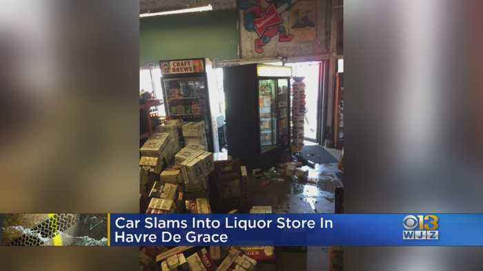 Car Slams Into Liquor Store In Havre De Grace