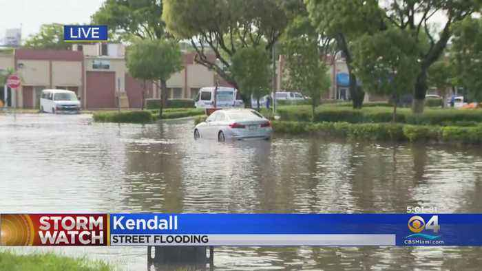 Bad Flooding In Several Parts Of South Miami-Dade County