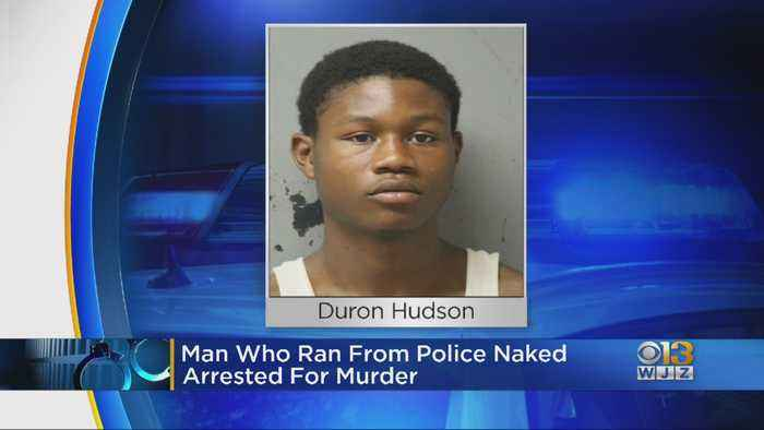 Man Who Ran From Police Naked Arrested For Murder