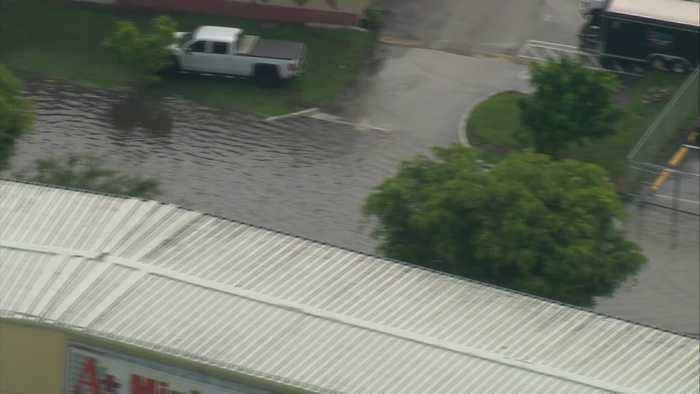 WEB EXTRA: Chopper 4 Over SW Miami-Dade Flash Flooding