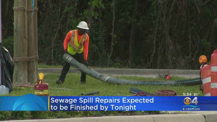 Crews Hoping To Have Miami-Dade Sewage Spill Fixed Sometime Thursday Night