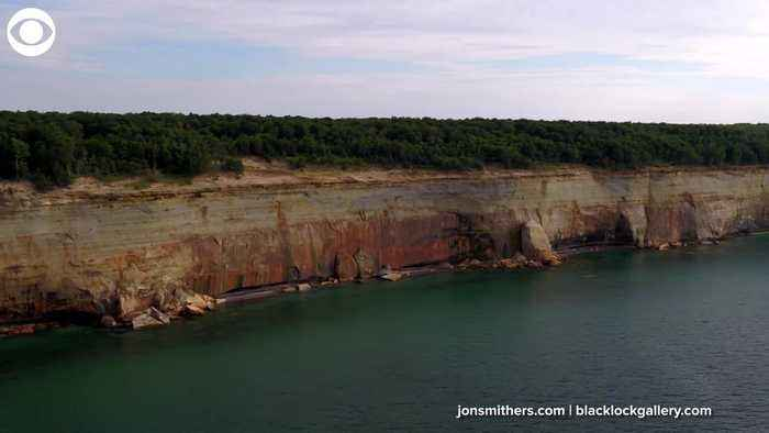 WEB EXTRA: Cliff Collapses Into Lake Near Kayakers