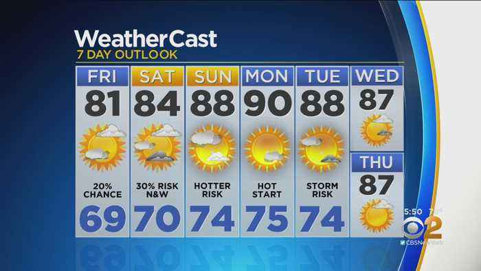 New York Weather: CBS2 8/15 Evening Forecast at 5PM