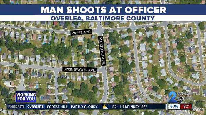 Man arrested for firing gunshots at Baltimore County officer