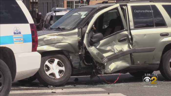 Police: Driver Slams Into Squad Car On West Side