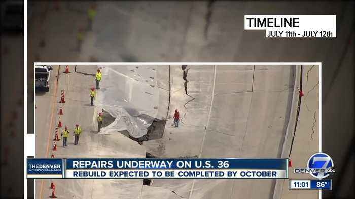US 36 project moves into rebuild phase after collapse