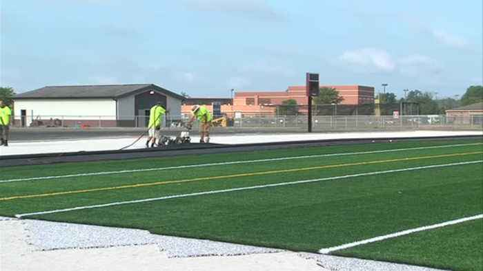 Work continues on $1 million Northview turf project