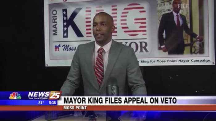 Mayor King files appeal on veto