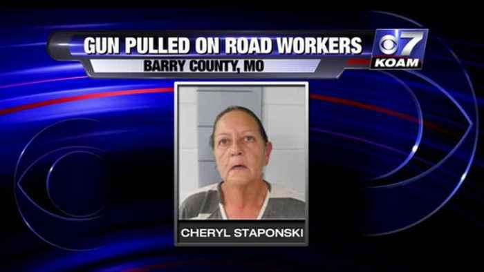 Gun on Road Workers