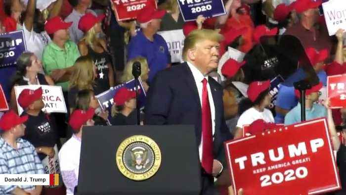 Trump Mocks Protester At His Rally: 'That Guy's Got A Serious Weight Problem'