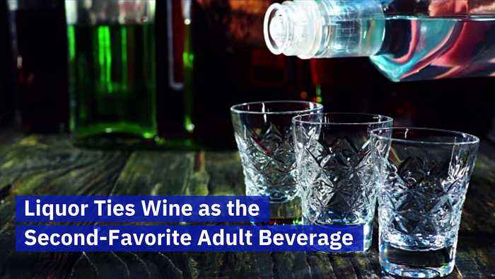 Liquor Ties Wine as the Second-Favorite Adult Beverage