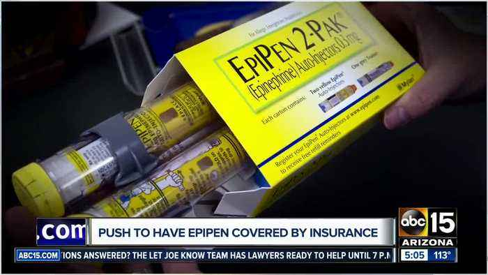 Nationwide push to have EpiPen covered by insurance