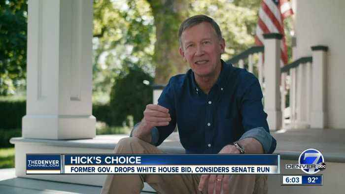 John Hickenlooper formally ends 2020 presidential bid, says he's giving Senate run 'serious thought'