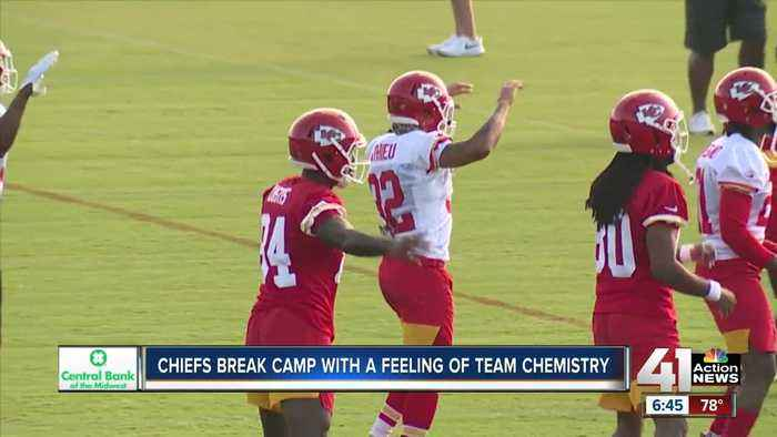 Chiefs break training camp in St. Joe