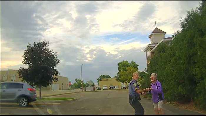 Dash Cam Captures Officer Joining 92-Year-Old For Impromptu Dance Off