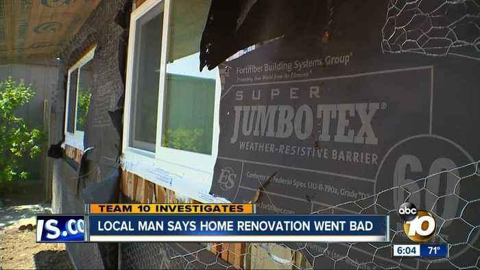 San Diego man says home renovation went bad