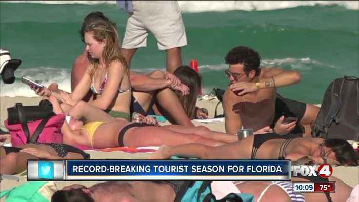 Record-breaking tourist season for Florida