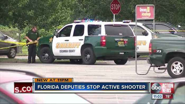 Deputy shoots, wounds armed man at Florida grocery store