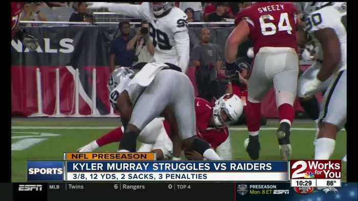 Kyler Murray Struggles vs Raiders in Preseason