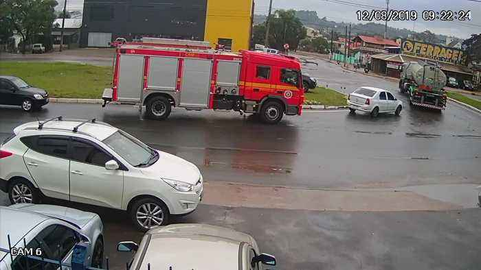 Fire Truck in Right Place at Right Time