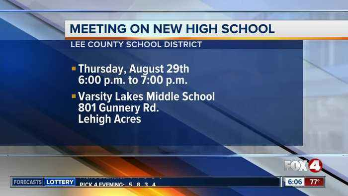 Meeting on new Lee County school scheduled for August 29th