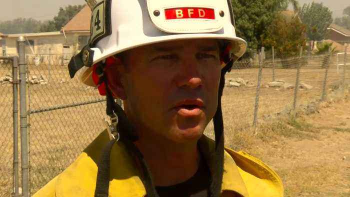 Bakersfield Fire Department's Casey Snow discusses a fire in East Bakersfield
