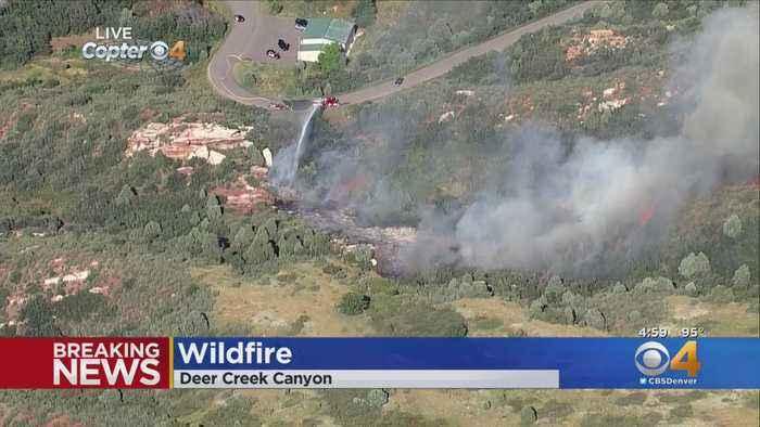 Wildfire Burns In Deer Creek Canyon