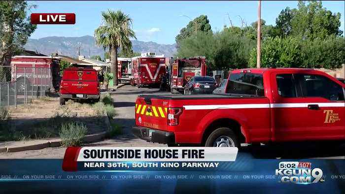 LIVE: Crews battling house fire on Tucson's south side