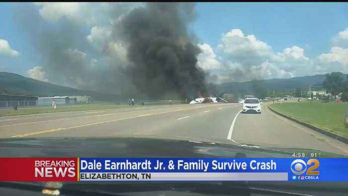 Dale Earnhardt, Family Survive Fiery Plane Crash In Tennessee