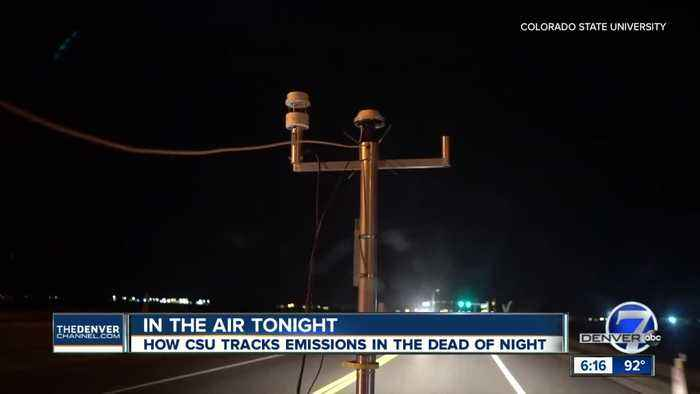 In the dead of night: Like ghost hunters, CSU researchers work to collect air samples in the dark