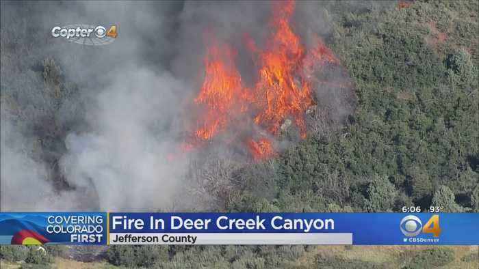 Evacuations Ordered As Fire Burns In Deer Creek Canyon