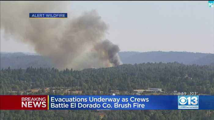 Evacuations Underway As Crews Battle El Dorado County Brush Fire
