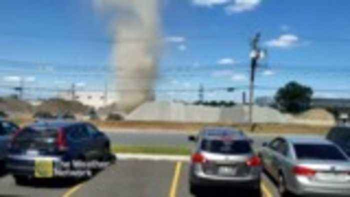 CAUGHT ON CAM: A dust-nado whips up in industrial park