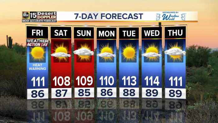 Heat warnings carry on into Friday