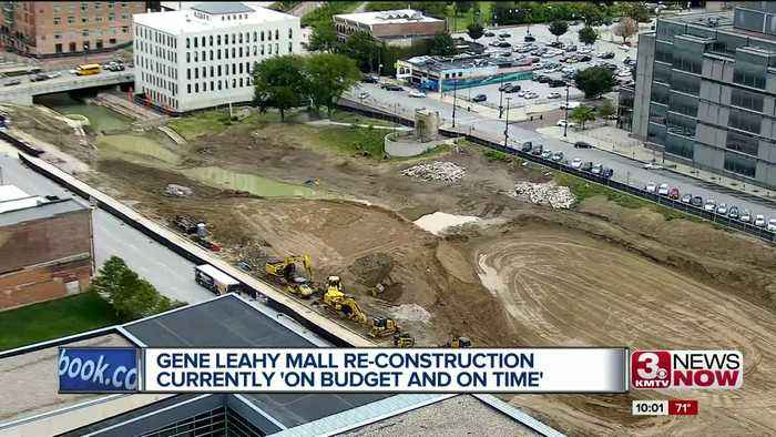 Gene Leahy Mall re-construction 'on budget and on time'