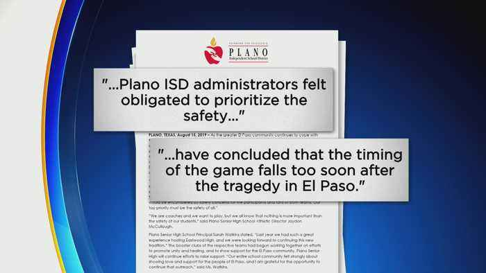 Plano Senior High School Cancels Football Game In El Paso After Mass Shooting By Former Student