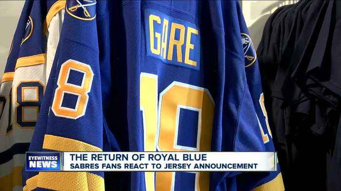 Sabres fans react to the return of royal blue jerseys
