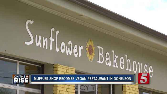 Former muffler shop converted into vegan restaurant