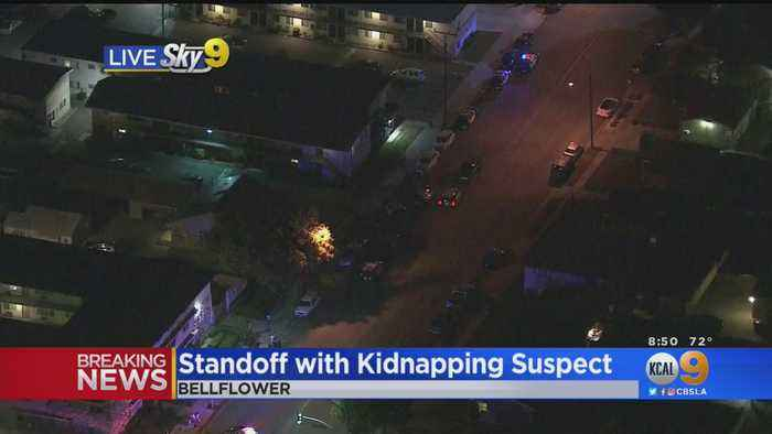 Police In Standoff With Kidnapping Suspect In Bellflower