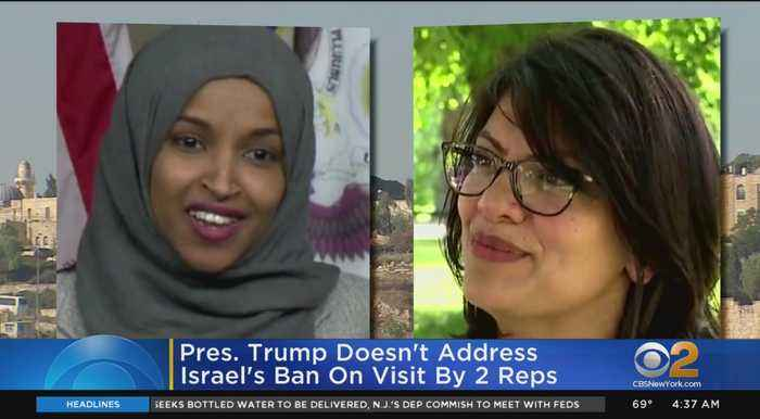 President Trump Doesn't Address Israel's Ban On Visit By 2 U.S. Reps