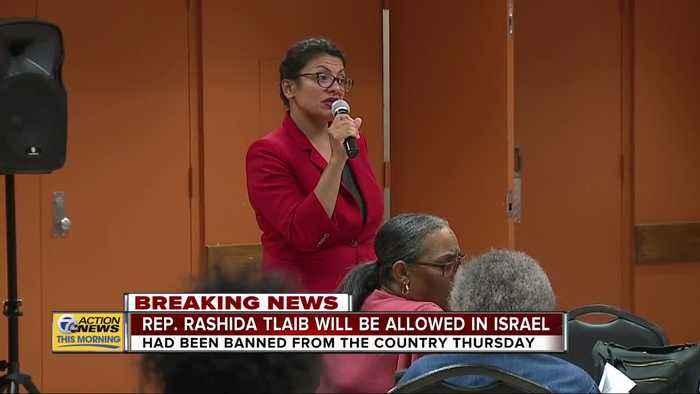 Rep. Rashida Tlaib will be allowed in Israel